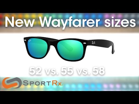 Ray-Ban New Wayfarer Sizes: 52 Vs. 55 Vs. 58 | SportRx