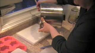 Making handmade soap from natural and organic ingredients (soap making process)