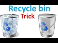 Recycle bin magic trick | Delete files without moving recycle bin