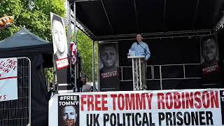 US CONGRESS MAN PAUL GOSAR SPEAKING IN SUPPORT AT FREE TOMMY ROBINSON DEMO