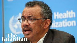 World Heath Organization holds news conference on coronavirus – as it happened