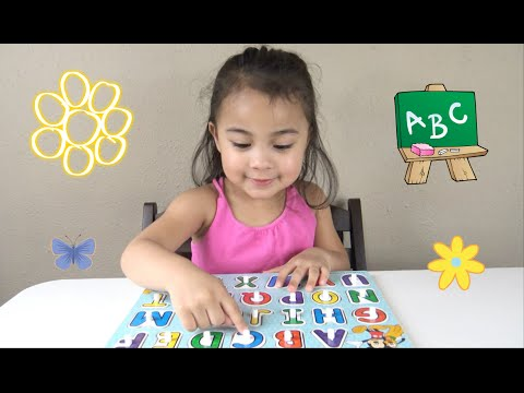 Learn ABC Activity with a Toddler | Learning Video to Help Kids Learn the Alphabet with Abc Puzzle
