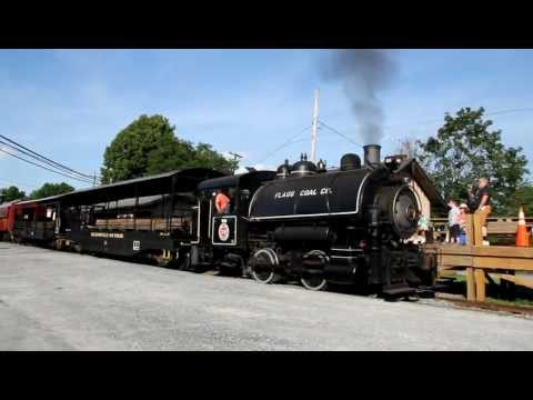 5593.MOV Flagg Coal Saddle Tank Porter Steam Locomotive #75