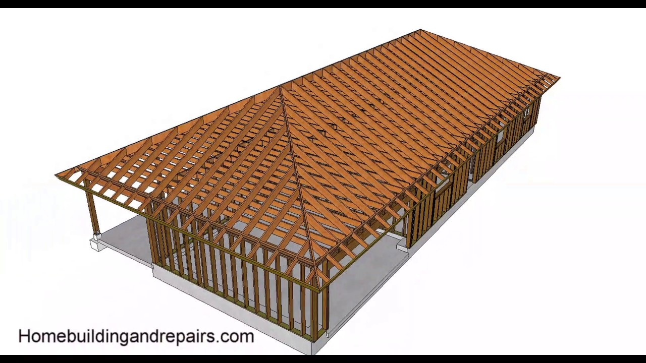 Hip roof design and building basics conventional framing
