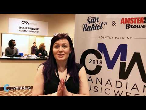 Eventdex at the Canadian Music Week, hear it from Kristen Campbell- The One Woman Team!!