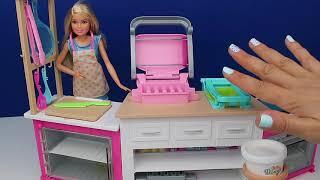 Barbie Mutfak Setini Açtım! Barbie'nin Mutfağı Oyuncak Seti! Bidünya Oyuncak