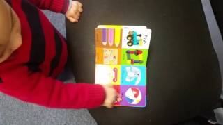 16 months old baby reading