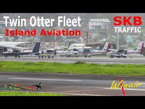 Winair's Twin Otter Fleet in St. Kitts since the passing of Hurricane Irma in St. Maarten
