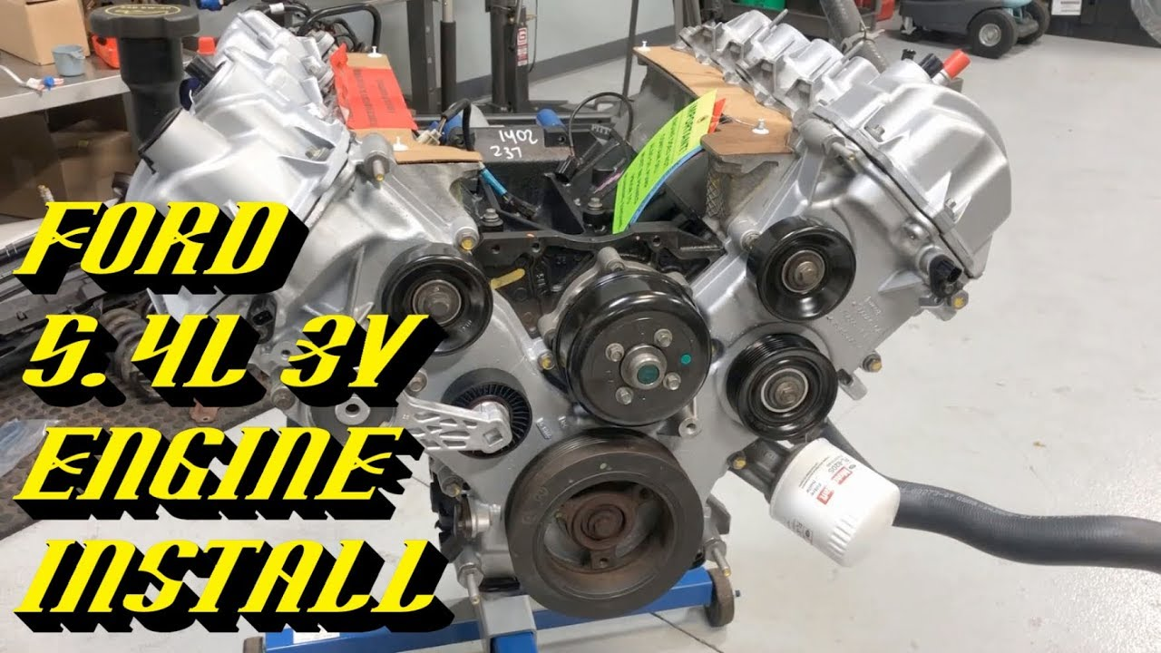 Ford 5 4l 3v Triton Engine Removal Installation Part 2 Of 2 Engine Prep And Installation Youtube