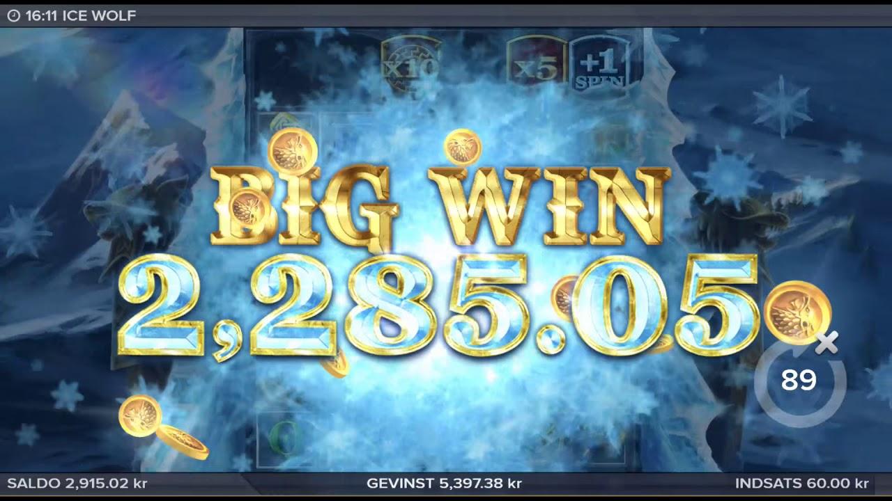 HUGE win on Ice Wolf Slot