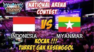 KOCAK !!! Turret Tak Tersentuh Sama Sekali Indonesia vs Myanmar National Arena Contest 07102017