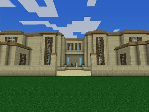 Huge Minecraft PE Modern Mansion Tour + Download