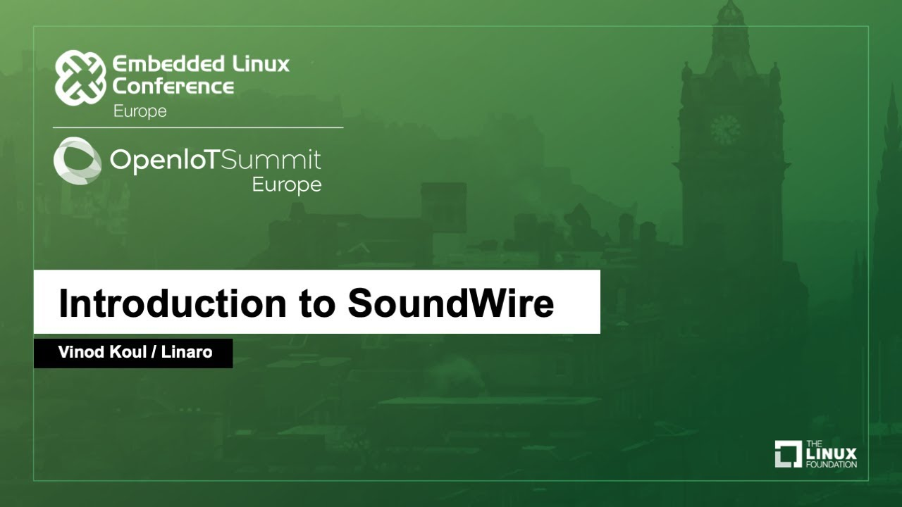 Introduction to SoundWire - Linaro