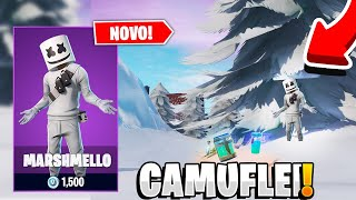 I CAMUFLEI IN THE SNOW WITH THE SKIN OF THE MARSHMELLO-FORTNITE