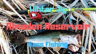 1st Time at Almaden Reservoir Winter BASS Jig FISHING UNCUT w Breakdown