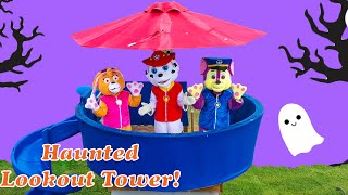 Assistant Saves the Spooky Haunted Paw Patrol Spooky Lookout Tower from Ghosts
