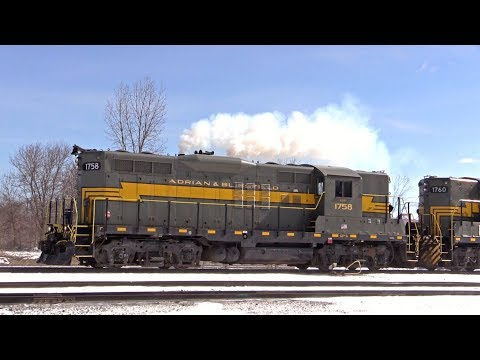 EMD GP9s on the Adrian & Blissfield Railroad
