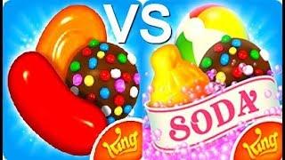 Candy Crush Saga VS Candy Crush Soda Saga Gameplay HD screenshot 3
