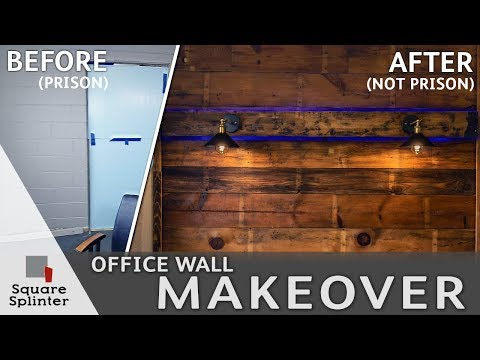 diy-reclaimed-wood-accent-wall-with-glowing-faux-beam