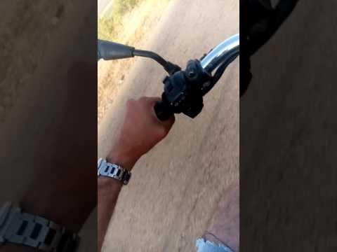 On my motor in Syrian desert