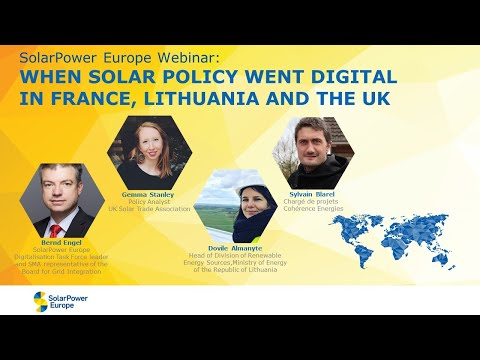 'When solar policy went digital' in France, Lithuania and th
