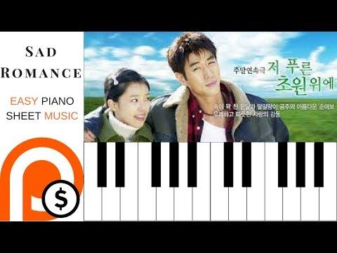 SAD ROMANCE | EASY PIANO SHEET MUSIC | PATREON FRIDAY