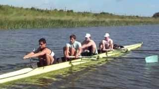 Heavyweight Student Mens Four Rowing After Training On Rowperfect