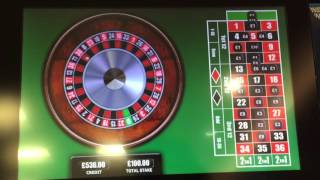 Roulette good run on numbers, maximum bet at William Hill