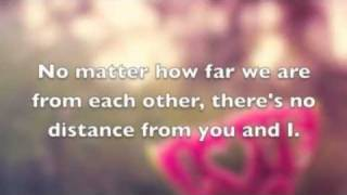 Repeat youtube video No Distance-Jason Chen Lyrics