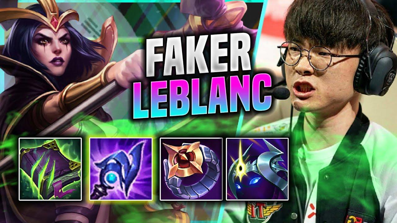 FAKER IS THE LEBLANC GOD! - T1 Faker Plays Leblanc Mid vs Sylas!