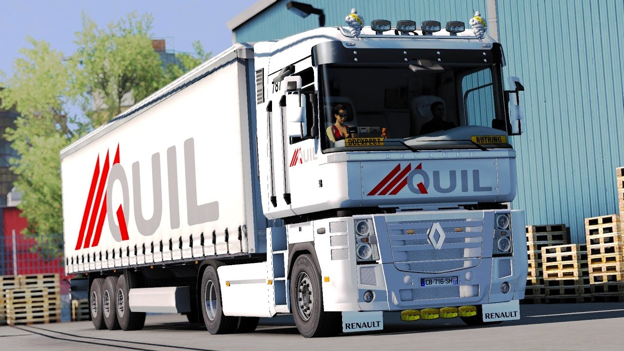 ets 2 public beta renault magnum le havre lille. Black Bedroom Furniture Sets. Home Design Ideas