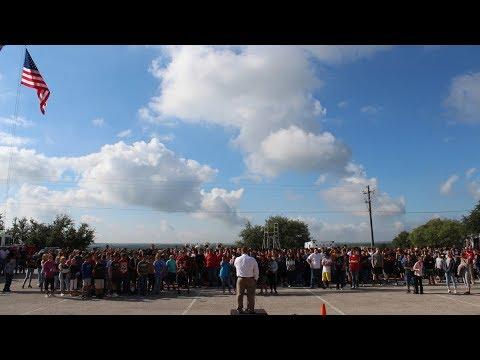 9-11 Ceremony at Eastland High School in Eastland, Texas