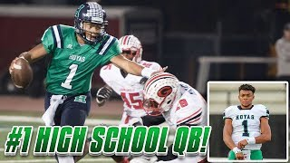 THE #1 HIGH SCHOOL QB IN THE NATION! Justin Fields Highlights!