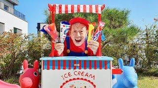 할아버지! 미니 유니와 맛있는 아이스크림 같이 먹어요~ Pororo Candy Ice cream pretend play - Romiyu Story 로미유 스토리
