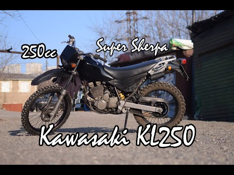 Тест мотоцикла Kawasaki KL250 SuperSherpa. Обзор. Motorcycle Test And Review.