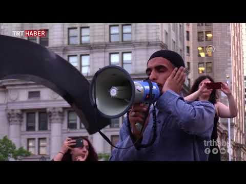 New York'ta göçmenlere destek için sokak iftarı
