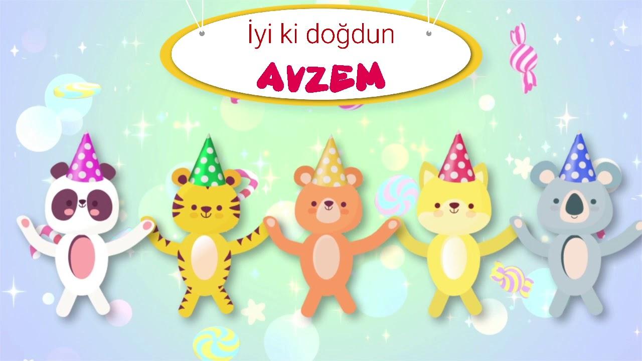 İyi ki doğdun AVZEM - İsme Özel Doğum Günü Şarkısı (FULL VERSİYON) (REKLAMSIZ)