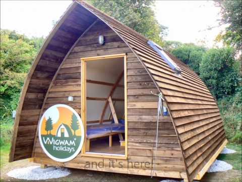 Wigwams on Tehidy Holiday Park in Cornwall