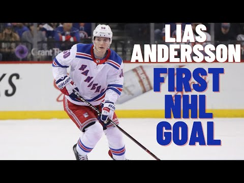 Lias Andersson #50 (New York Rangers) first NHL goal 26.03.2018