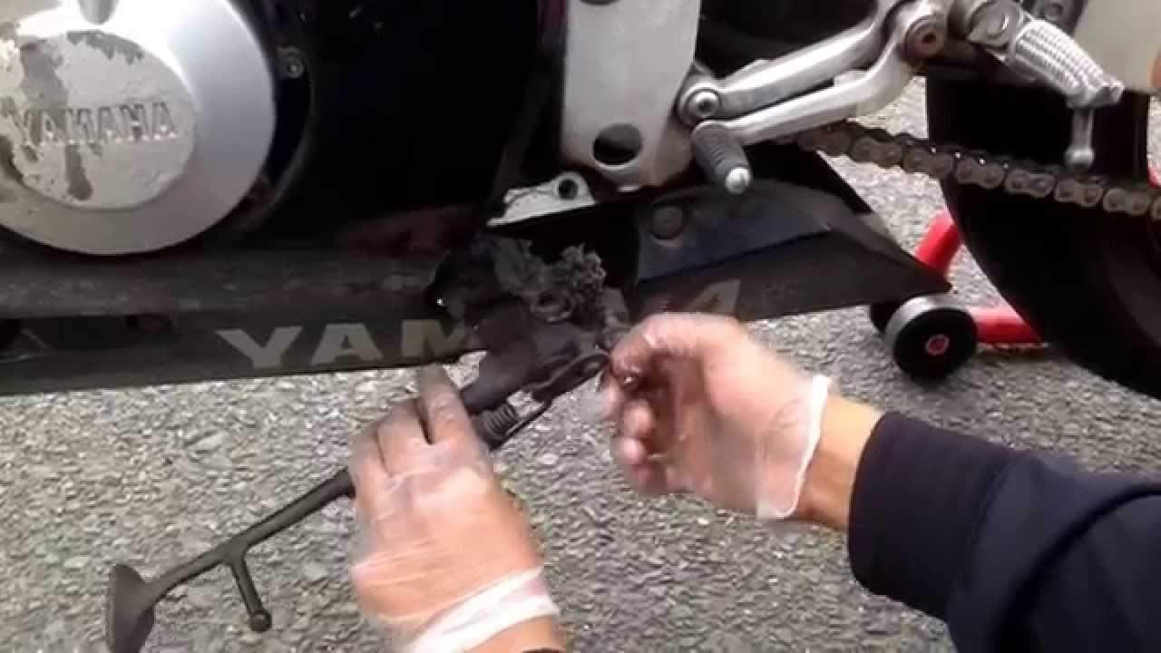 Yamaha r6 kick stand replacement  YouTube