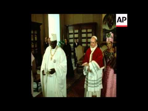UPITN 14 1 71 POPE PAUL RECEIVES PRESIDENT DIORI OF NIGER