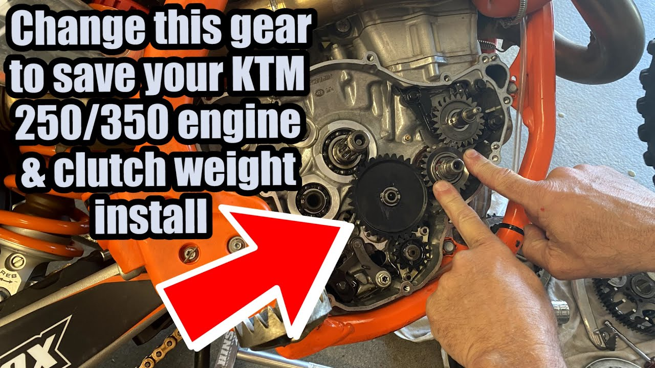 Change out this Gear on a KTM 250 OR 350