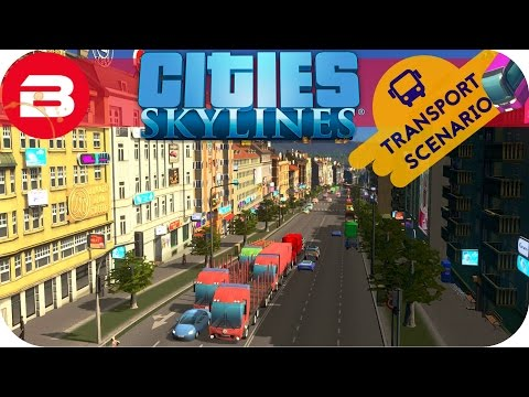 Cities Skylines Gameplay - NEW TRANSPORT SCENARIO (Cities: Skylines Natural Disasters Scenario) #1