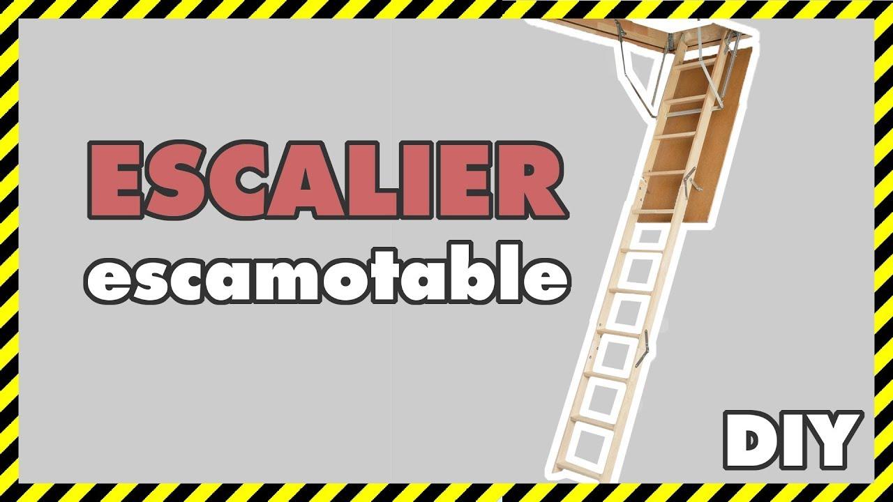 diy 13 pose d 39 un escalier escamotable youtube. Black Bedroom Furniture Sets. Home Design Ideas