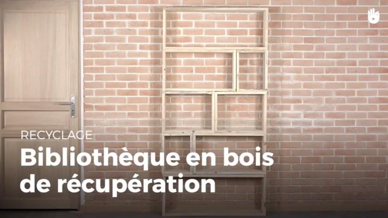 fabriquer une bibliotheque en bois de recuperation recycler