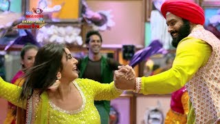 Bigg Boss 13 Shehnaz Gill And Siddharth Shukla Break Into Bhangra Dance For The Finale