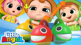 10 Little Fishies Song | Little Angel Nursery Rhymes & Kids ...