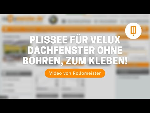 plissee f r velux dachfenster ohne bohren zum kleben video von rollomeister youtube. Black Bedroom Furniture Sets. Home Design Ideas