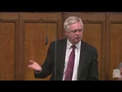 David Davis makes a speech in the Commons on the European Arrest Warrant