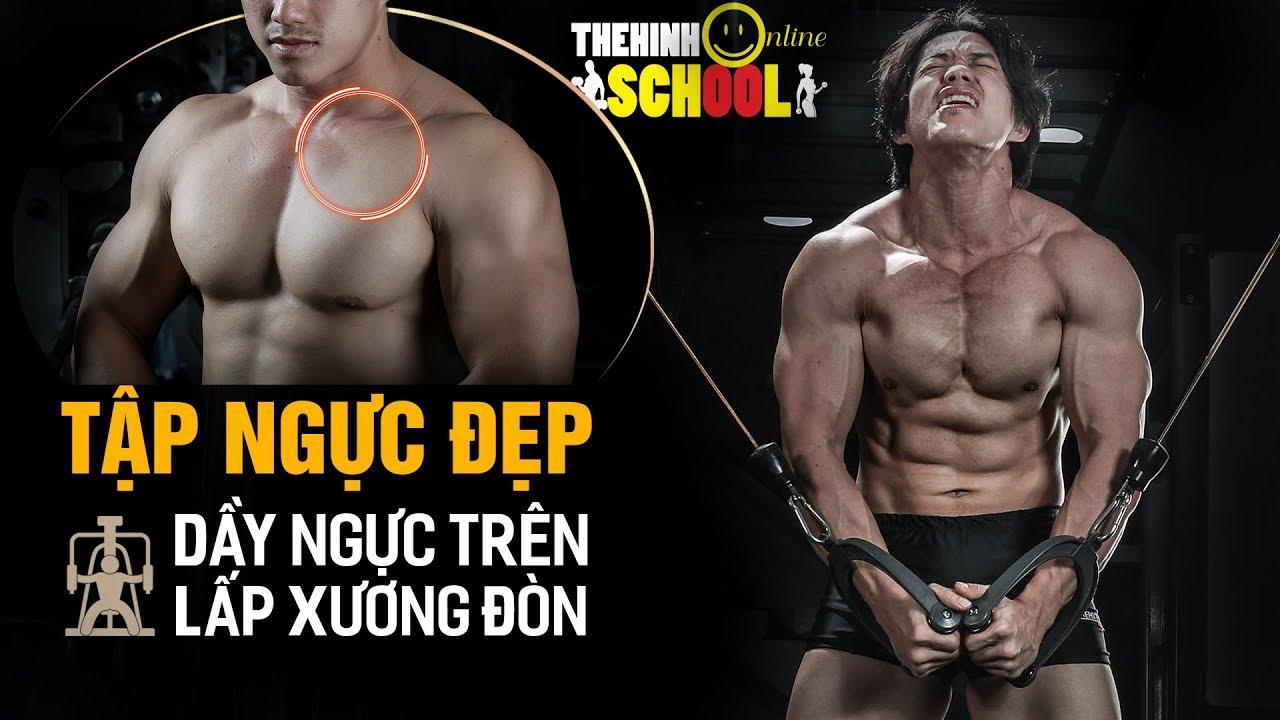 Cách Tập gym ngực đẹp,  dầy ngực trên lấp xương đòn